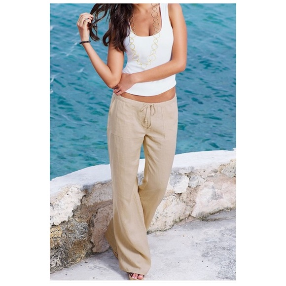 Mossimo Supply Co. Pants - Mossimo 100% Linen Pants Size Medium